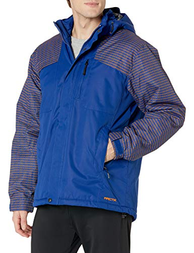 ARCTIX Chaqueta de invierno con aislamiento para hombre, color azul y naranja, talla M