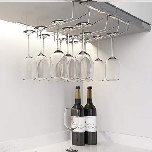 Wine Rack Weinglashalter Hängende Metallbecherständer Freistehender Weinbecher-Präsentationsständer Moderner Umgedrehter Glasständer Weinglashalter Mit Montagezubehör