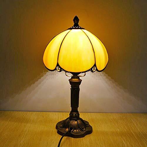 GXM-LZ Tiffany-Stil Tischlampen, Glaslampenschirm für die Schlafzimmer Nachttischlampe, Durchmesser 20cm,C