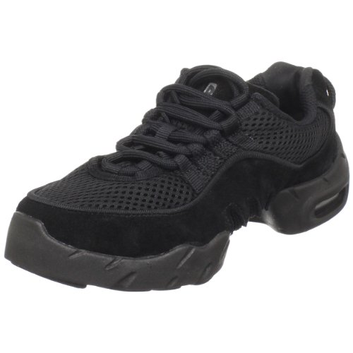 Bloch Girl's Boost MESH Sneaker, Black, 3.5 X(Medium) US Toddler