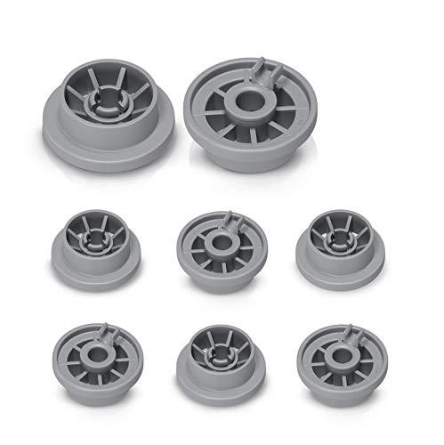 Korbrolle Rolle 8x Laufrolle Ersatz für Bosch Siemens Constructa Neff 00165314 165314 Ersatzteile für Geschirrkorb Spülmaschine Geschirrspülmaschine Unterkorb Geschirrspüler