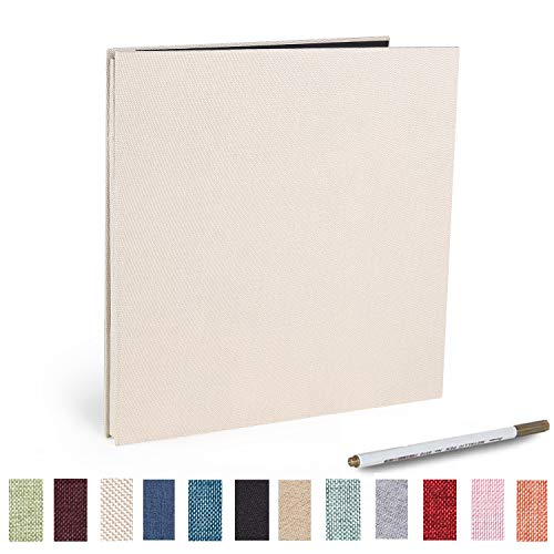 Photo Album Self Adhesive 4x6 5x7 3x5 8.5x11 Scrapbook Magnetic Album DIY Scrap Book Length 11 x Width 10.8 (Inches) with A Metallic Pen