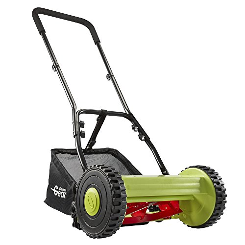 Manual Garden Lawnmower Hand Push Mower Grass Cutter, 30cm Cutting Width with 17L Collection Bag for Waste