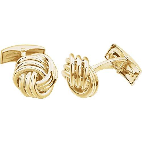 14ct Gelb Gold Poliert Knoten Manschettenknöpfe