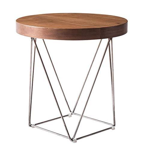 Bureau DD bijzettafel, Scandinavische kleine salontafel, een paar zitplaatsen smeedijzer ronde metalen bank tafel -werkbank