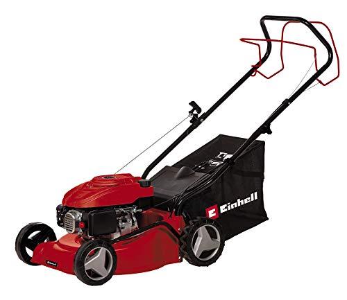 Einhell Benzin-Rasenmäher GC-PM 40/1 S (1,2 kW, 1 Zylinder 4-Takt OHV Motor, 7-stufige zentrale Schnitthöhenverstellung 25 bis 60 mm, abschaltbarer Hinterradantrieb)