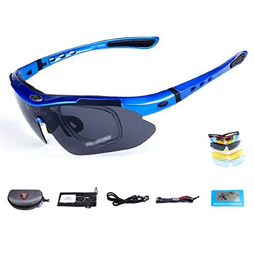 WSC Gafas De Sol para Bicicleta, Gafas Deportivas para Hombres Y Mujeres, Protección UV, Bicicleta De Montaña Al Aire Libre, Conducción, Senderismo, Pesca, Gafas para Ciclismo(Color:F)