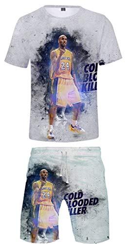 Silver Basic Basketball Completo Abbigliamento Corta Tute da Ginnastica per Bambini,Cold Blooded Killer-5,XXS