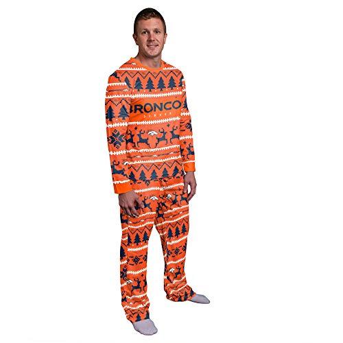 FOCO NFL Winter Xmas Pyjama Schlafanzug - Denver Broncos - M