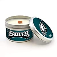 Worthy Promotional NFL Philadelphia Eagles Linen Scented Wood Wick Candle in Travel Tin with Lid, 5.8-Ounce