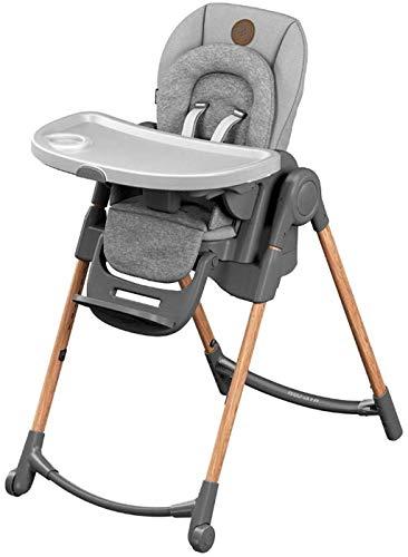 Maxi-Cosi Minla Baby Hochstuhl, Verstellbarer Hochstuhl mit 6 verschiedenen Sitzmöglichkeiten, geeignet von der Geburt, 0 Monate - 6 Jahre, Essential Grey