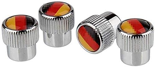 YILONGNB Cubierta de válvula de Coche Opel Astra Cadillac Carnival Kia Rio SAAB, Cubierta de neumático a Prueba de Polvo de aleación de Aluminio, Accesorios para neumáticos