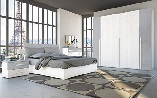 FELVER CASA & CO SRL Camera Completa Colore Frassino Bianco E Cemento