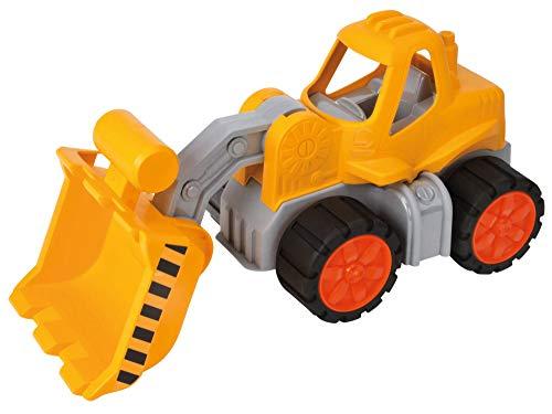 BIG-Power-Worker Radlader, Spielzeug Auto ideal für Unterwegs, Reifen aus Softmaterial, beweglicher Ladearm, sonnengelb für Kinder ab 2 Jahren