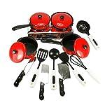 13PCS / Set Cocina finge los juguetes para niños Cocina niños de juguete Juego de cocina Conjuntos de Juegos de rol Juguetes cocción de alimentos Utensilios Ollas Ollas Platos Utensilios de cocina