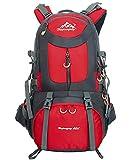Nylon Sac à Dos de randonnée - 40L / 50L / 60L Homme Femme Sport Trekking Voyage Camping, Rouge,...