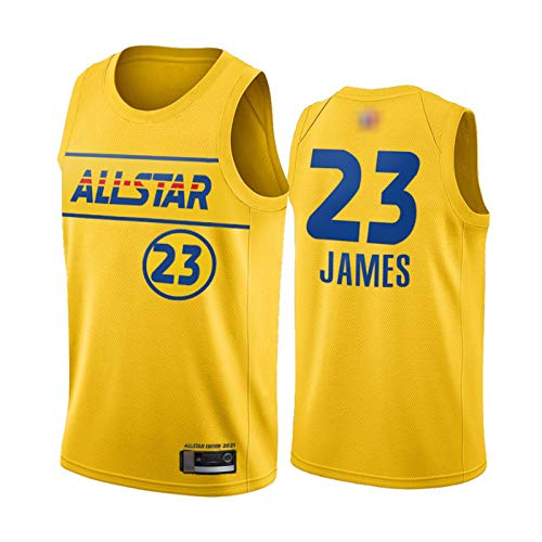 GGLL Team LeBron # 23 LeBron James - Uniforme de baloncesto para hombre (2021), color amarillo