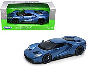 """Welly 1/24 Scale (7"""") 2017 Blue FORD GT Diecast Model Car"""