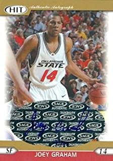 Autograph Warehouse 100745 Joey Graham Autographed Basketball Card Oklahoma State 2005 Sage Hit No. A14
