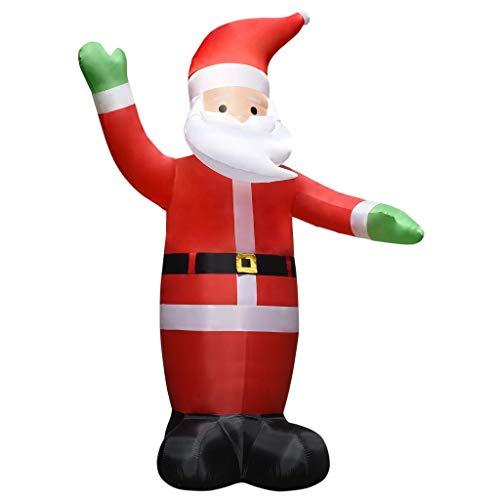 vidaXL Weihnachtsmann Aufblasbar mit LEDs Weihnachtsdeko Nikolaus Weihnachten Beleuchtung Deko Weihnachtsfigur Dekofigur IP44 4,5m
