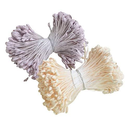 N-K 720 Teile/Satz Doppelkopf Künstliche Blume Staubblätter Stempel für Hochzeitssträuße Langlebig und Nützlichdauerhaft