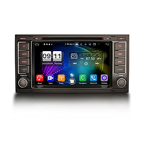 ERISIN 7 Pulgadas Android 10.0 Estéreo de Automóvil para VW Touareg T5 Multivan Soporte GPS Sat Nav Carplay Android Auto DSP Bluetooth A2DP WiFi 4G Dab + TPMS DVB-T / T2 Octa Core 4GB RAM + 64GB ROM