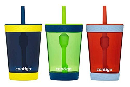 Contigo Kids 3 Pack Tumblers - Blue Green Red