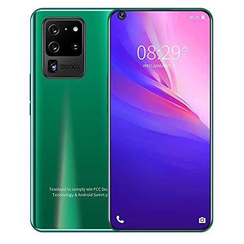 LINGOSHUN Teléfono Celular S20+ Pro,Pantalla HD de 6,82 Pulgadas,Reconocimiento Inteligente,Batería de 2500mAh,Smartphone de 2MP + 5MP / Verde / 2G+16G