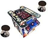Abvideo Exclusive Huge 22 inch Screen with Adjustable Stools Video Game Machine Cocktail Arcade Machine 412 Classic Games Commercial Grade! Right Handed Plus Left Handed Buttons