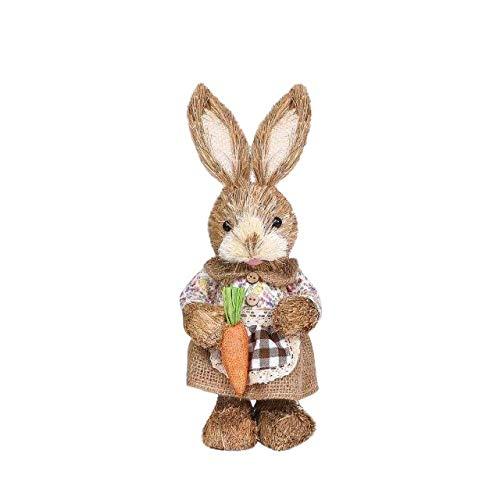 Simulación de Pascua Decoración de jardín para el hogar, decoración creativa de pajita, decoración de simulación, decoración de jardín - C 32 x 15 cm, a3