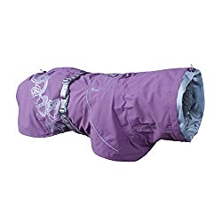 Currant colour Hurtta Drizzle Coat for dogs.