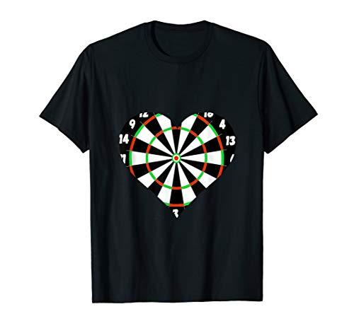 Soft Tip Darts Scoreboard Bullseye Board Heart Games T-Shirt