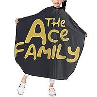 The Ace Family 散髪ケープ ヘアーエプロン 子供 サロン ファミリー 美容院 理髪 操作やすい 散髪マント 撥水加工 静電気防止 柔らかい 滑らか 上質 おしゃれ 男女兼用 プレゼント