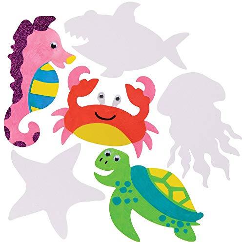 Baker Ross Zeedieren Vormen van Karton (30 stuks) Knutselspullen voor Kinderen