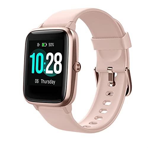 Smart Watch Fitness Tracker Relojes para hombres mujeres, reloj fitness Monitor de ritmo cardíaco IP68 Reloj digital impermeable con calorías de cálculo de cálculo, teléfono inteligente compatible con
