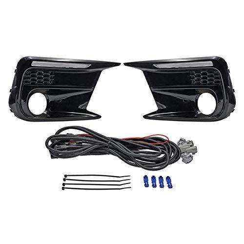 NERR YULUBAIHUO Ajuste para Subaru WRX STI 18-20 Interruptor Limitado LED LED DRL Luz de Funcionamiento diurno + ámbar Dynamic LED Señal de Giro Bezels Fog Lámpara de Niebla