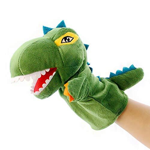 ZXM Marionetas Animales Muñeca de Juguete Dinosaurio de la Historieta marioneta de Mano Suave Felpa Animal Guante de Títeres for los más pequeños for niños Adultos rol cumpleaños