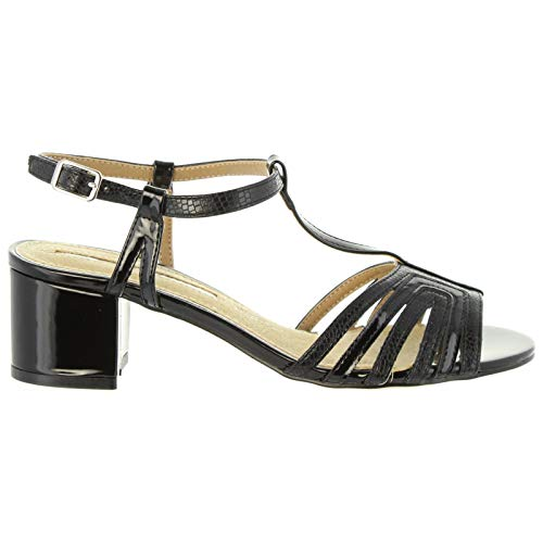 Maria Mare Sandalen Für Damen 66671 C32721 Lizard Negro Schuhgröße 35