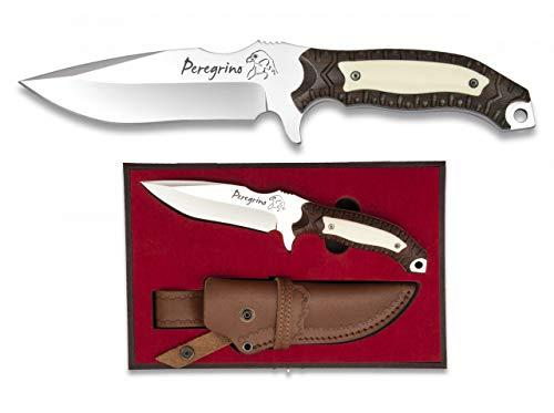 Cuchillo numerado Peregrino para Caza, Pesca, Camping, Outdoor, Supervivencia y Bushcraft Albainox 32034 + Portabotellas de regalo