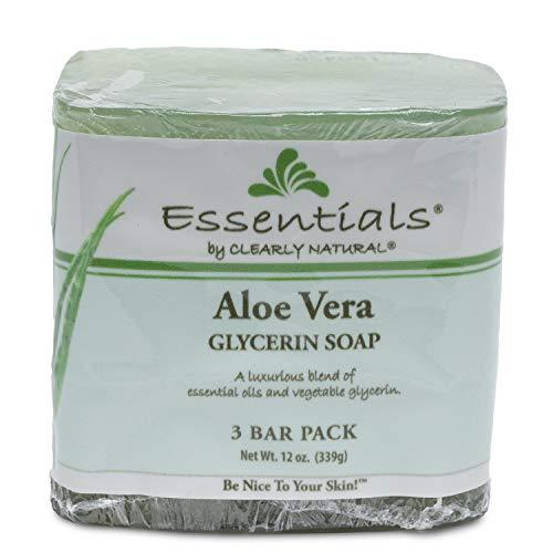 Clearly Natural Glycerine Bar Soap, Aloe Vera, 12 oz, 3 Cou
