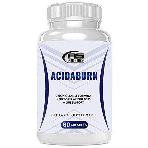 Acidaburn Weight Management Capsules - Acidaburn Pills - Acidaburn Dietary Supplement - Acidaburn Detox Cleanse Formula + Gut Support (60 Pills - 1 Month Supply)
