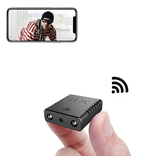 Smallest WiFi Camera,Rettru XD-WiFi Mini HD IP Camera Nanny Cam with Night Vision,AI Human Motion Detection,Cloud Storage,Live Feed Streaming,Remote Viewing for Security with iOS,Android Phone APP