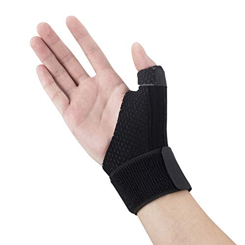 Adjustable Hand and Wrist Splint Hand and Wrist Brace Support - Straightening Immobilizer Treatment for Trigger Finger, Mommy thumb Arthritis, Knuckle, Tendonitis Pain Relief Carpal Tunnel Syndrome.