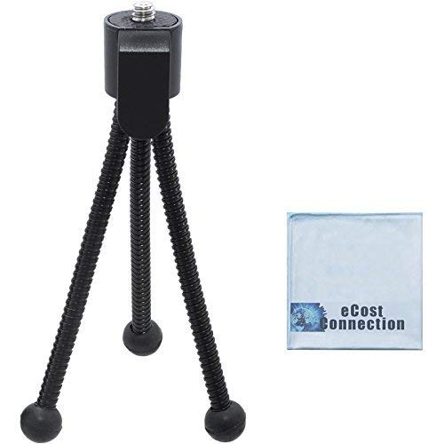 5 Inch Mini Tripod w/Spider Flex Legs + a Micro Fiber Cleaning Cloth by eCost