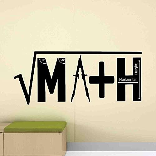 HFDHFH Calcomanías de Pared de matemáticas Firmar Pegatinas de fusión para fórmulas matemáticas Sala de Estudio salón de Clases Regalo del Maestro de la Escuela 57X134CM