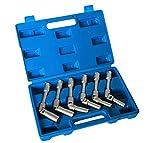 yasta Set 6 Chiavi Bussola snodate per candelette Auto Diesel da 8 a 16 mm 3/8' 160mm