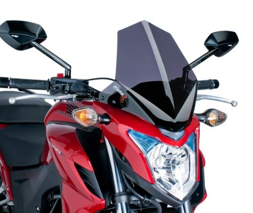 Preisvergleich Produktbild Unbekannt Puig 6437F Windschild Naked NG. kompatibel Fuer Honda CB500F 2013-2015 schwarz getoent 90% Set