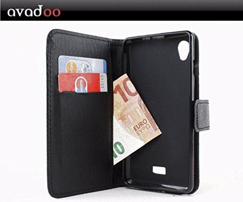 avadoo® Hisense U972 Flip Hülle Cover Tasche Schwarz mit Magnetverschluss & Dualnaht als Cover Tasche Hülle