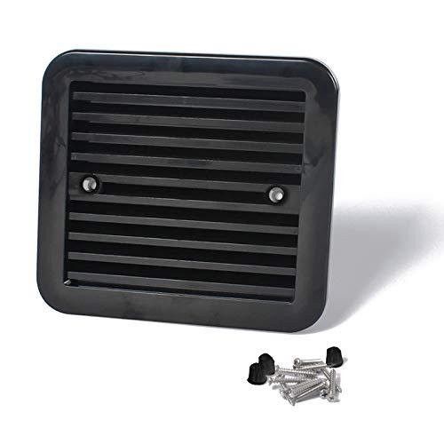 MaoWan Ventilador de Nevera de 12 V con Ventilador para Remolque de Caravana, Aire Lateral, Escape de Viento Fuerte, Accesorios de Coche para Caravana (Color : Silver)