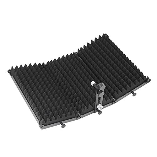 MHXY Outdoor Faltbares Mikrofon Akustik-Isolationsschild-Stahl-Akustikschäume Panel-Studio-Aufzeichnungsmikrofon-Zubehör Leicht zu tragen